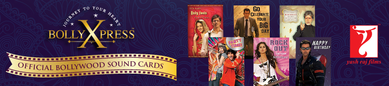 bollywoodgreetingcards Yash Raj Films Merchandise Launches Cool Bollywood Musical Greeting Cards