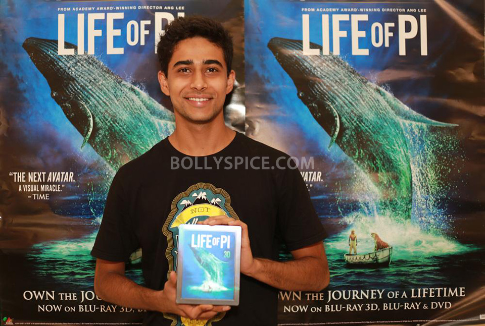 13may Suraj LifeofPiDVD01 Suraj Sharma releases Life of Pi on Home Video