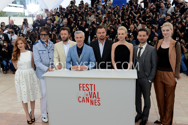 13may cannes 08 Cannes 2013: Amitabh Bachchan joins his director and co stars for The Great Gatsby photocall