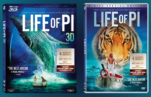 13may lifeofpidvd Excel Home Entertainment to unveil Hollywood's biggest summer release 'Life of Pi' on 3D Blu Ray & DVD