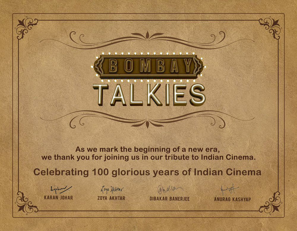 A4 ticket Certificate Bombay Talkies Cool Certificate!