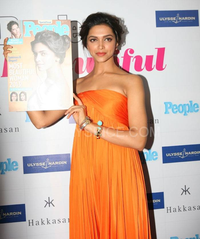 "Deepika Padukone People Deepika Padukone named India's ""Most Beautiful Woman"" 2013 by People magazine"