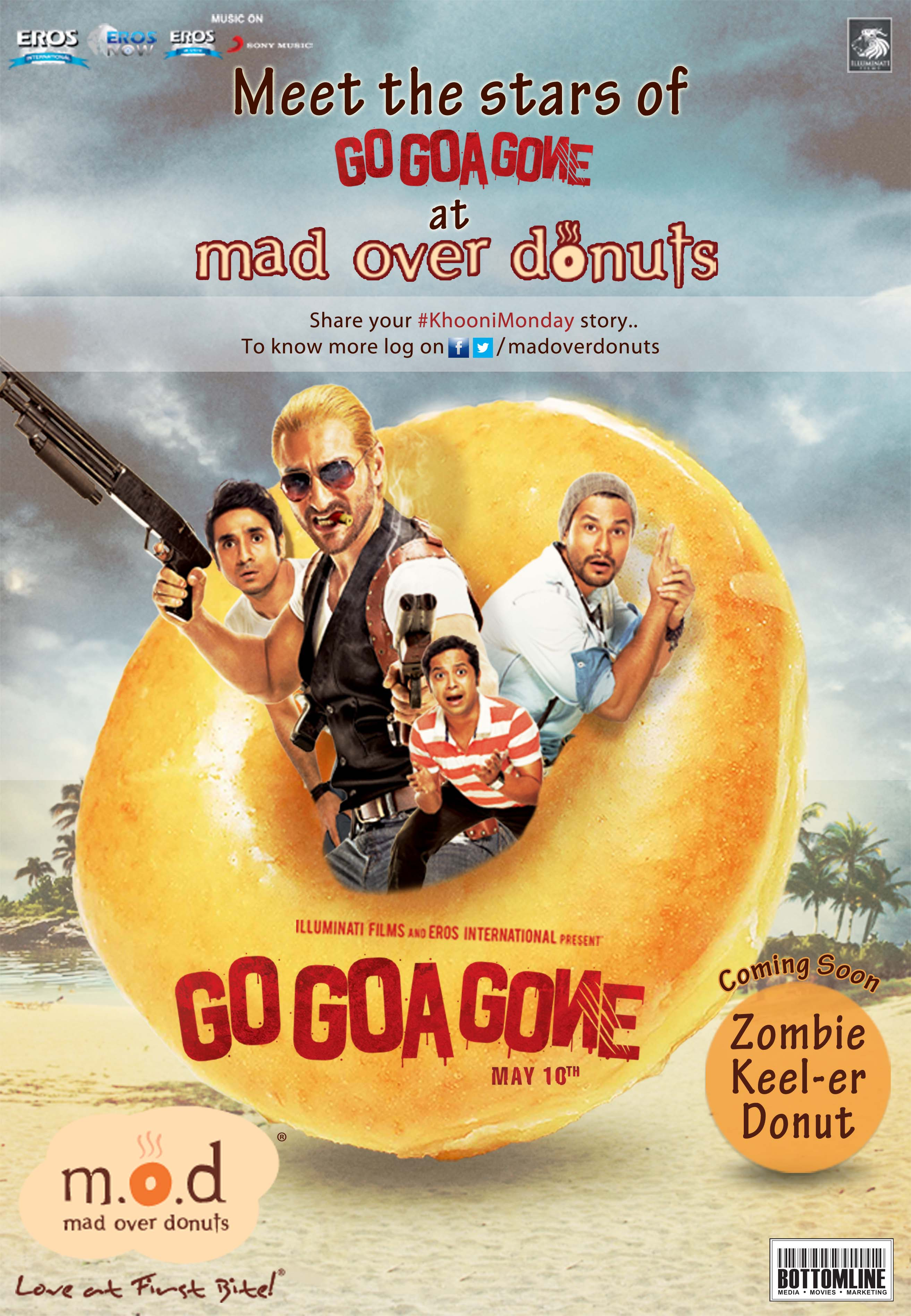 GGG Final Poster Go Goa Gones Cool Tie up with Mad Over Donuts with a Zoombie Keel er!