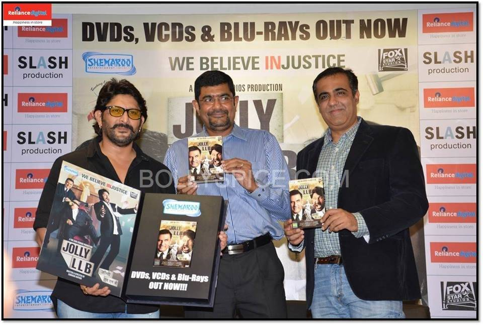 Jolly LLB DVD launch at the Reliance Digital Store