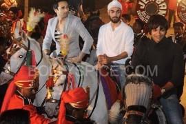 Pulkit Samrat, Manjot Singh and Ali Fazal during the music launch