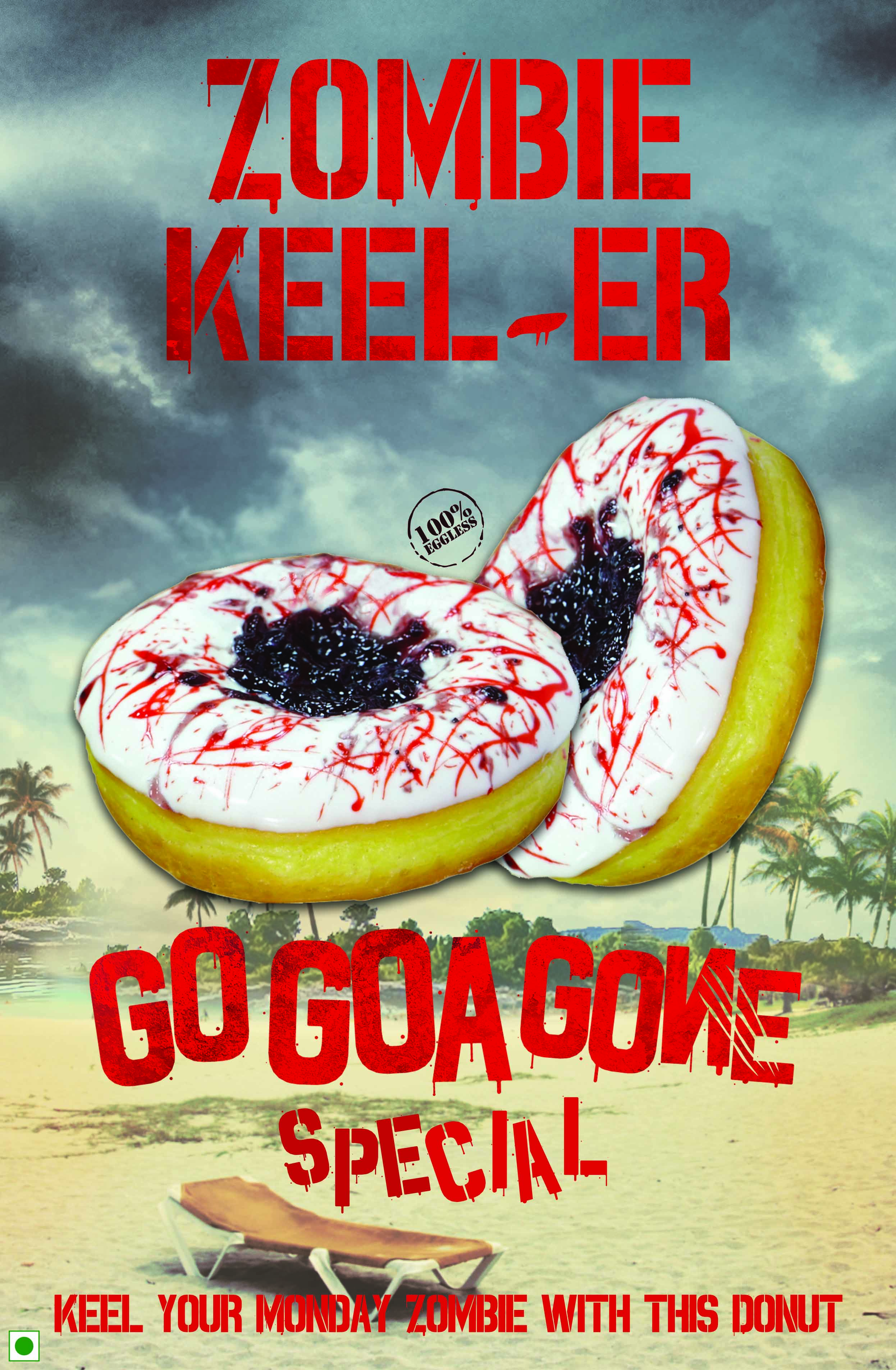 Zombie Keel er Go Goa Gones Cool Tie up with Mad Over Donuts with a Zoombie Keel er!