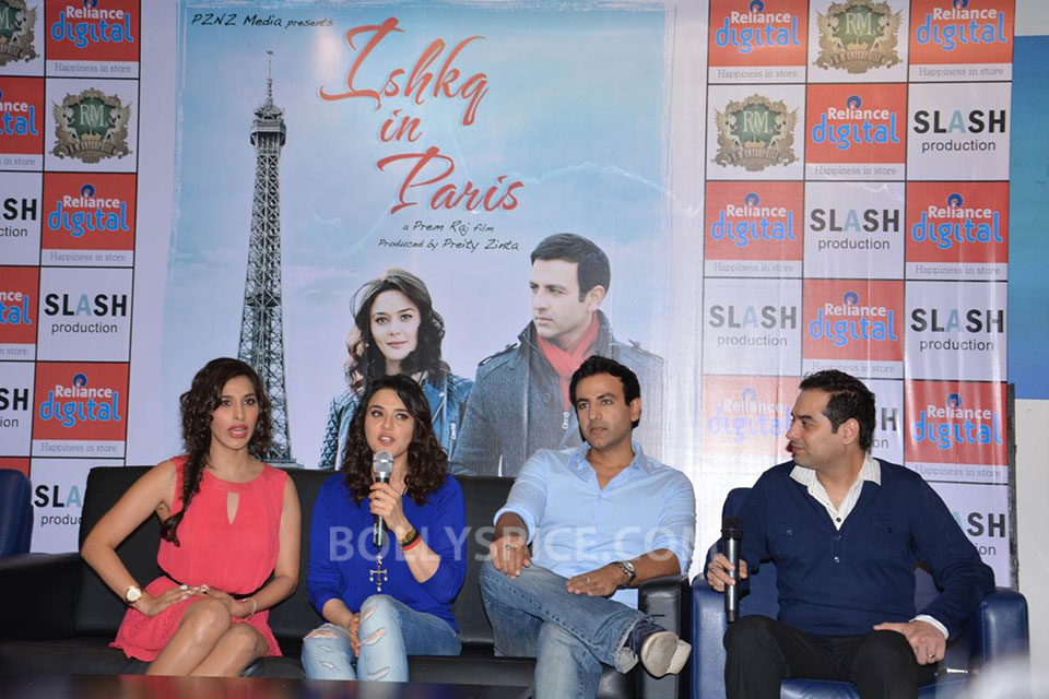 13jun Preity IIParis Cast02 Preity Zinta visits Reliance Digital Stores to promote Ishkq in Paris