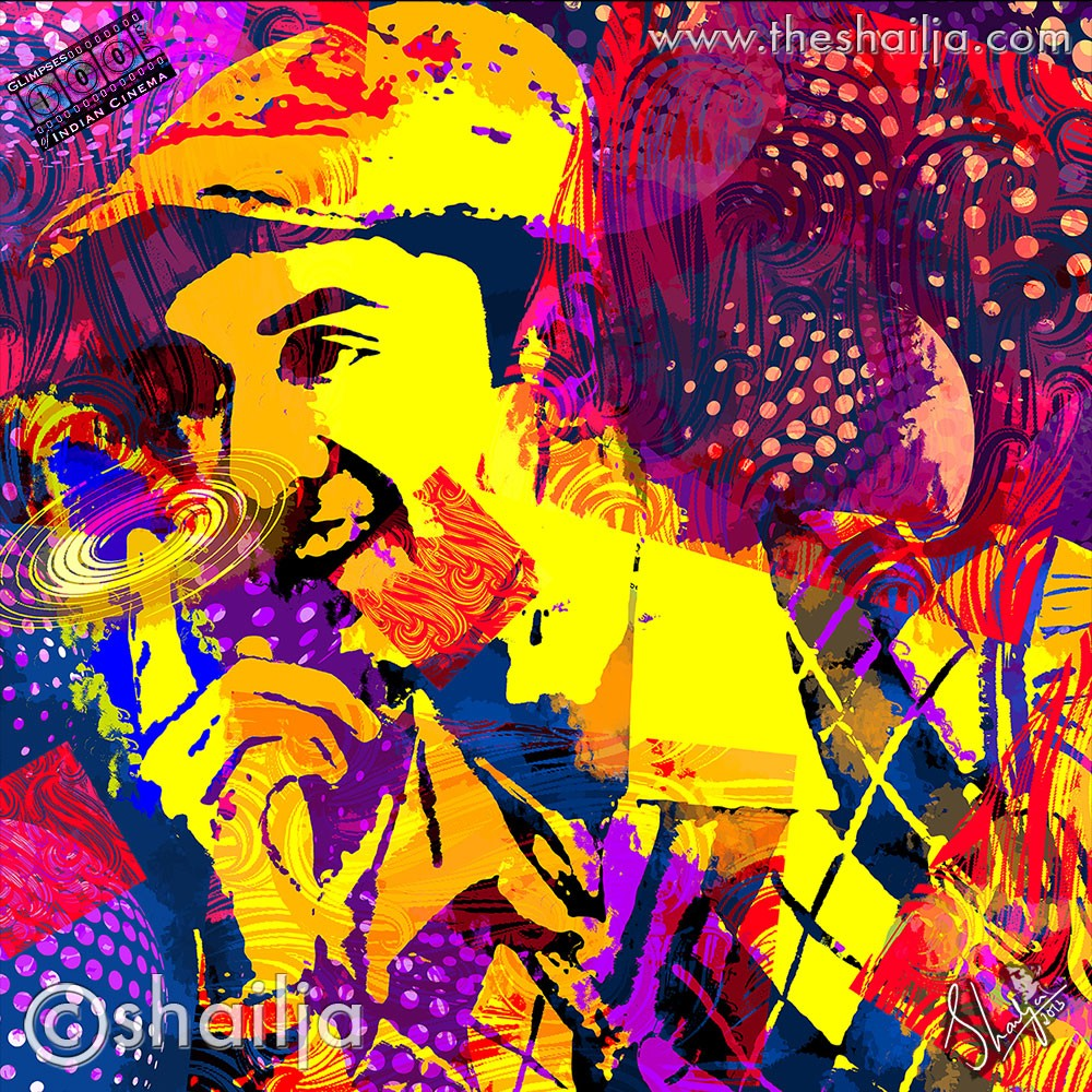 "Shailja.com Ranbir Kapoor  21173.1369530054.1280.1280 Shailja Gupta's Amazing ""Glimpses  100 years of Indian Cinema""  Digital Art Series powered by Adobe®"