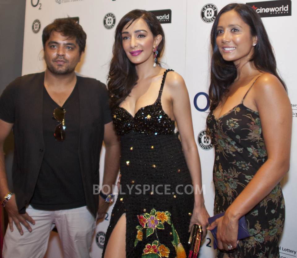 Feryna Wazheir with music producer Rishi Rich and actress, Manrina Rekhi