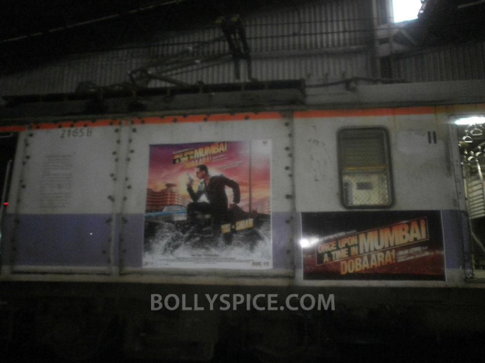 13jul OUATIMD Trains01 IN PICTURES: Mumbai Local Trains carry OUATIMD branding