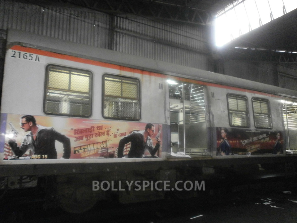 13jul OUATIMD Trains02 IN PICTURES: Mumbai Local Trains carry OUATIMD branding