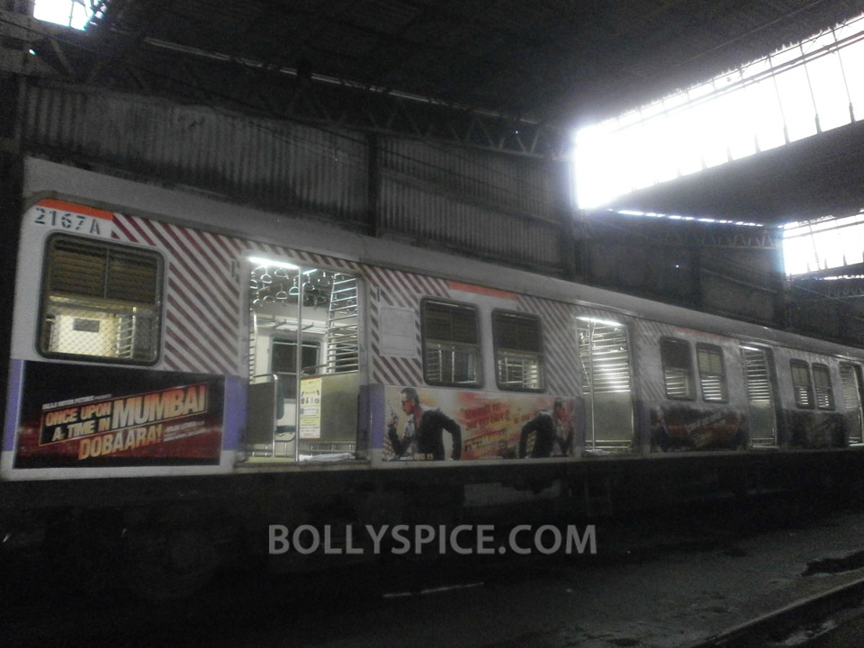 13jul OUATIMD Trains03 IN PICTURES: Mumbai Local Trains carry OUATIMD branding
