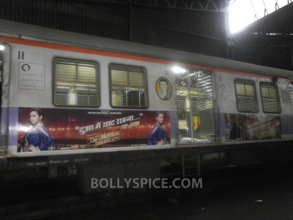 13jul OUATIMD Trains06 IN PICTURES: Mumbai Local Trains carry OUATIMD branding