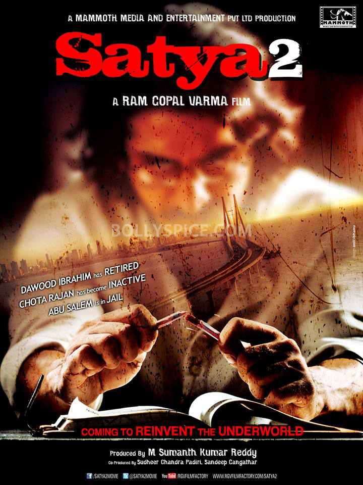 13jul Satya2Poster01 First Look: Satya 2 Coming to Reinvent the Underworld
