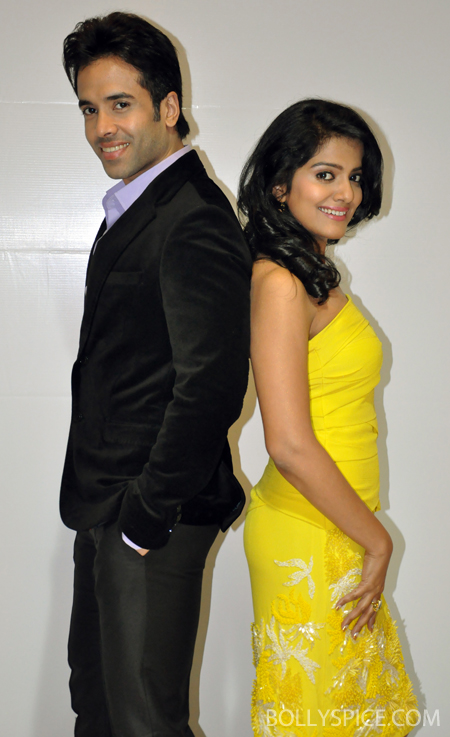 13jul bajateyraho 02 Tusshar & Vishakha Singh promote Bajatey Raho on Big Fame Star