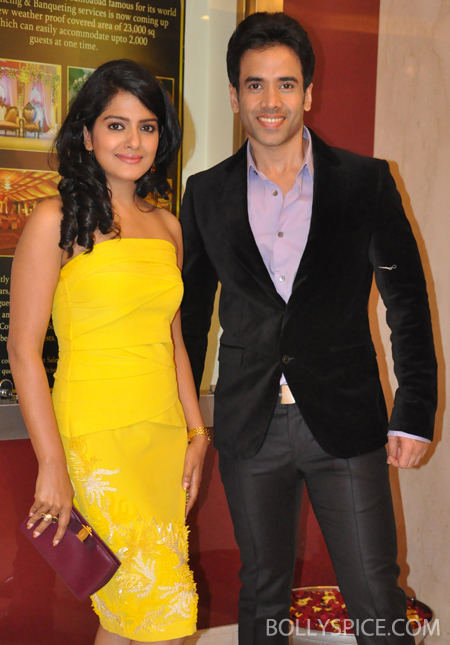 13jul bajateyraho 03 Tusshar & Vishakha Singh promote Bajatey Raho on Big Fame Star