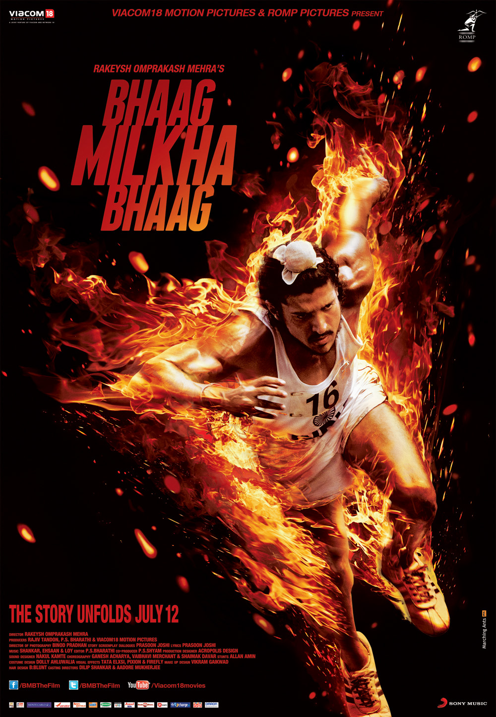 30 x 40 Fire Running Farhan Akhtar on Fire as Milkha Singh!