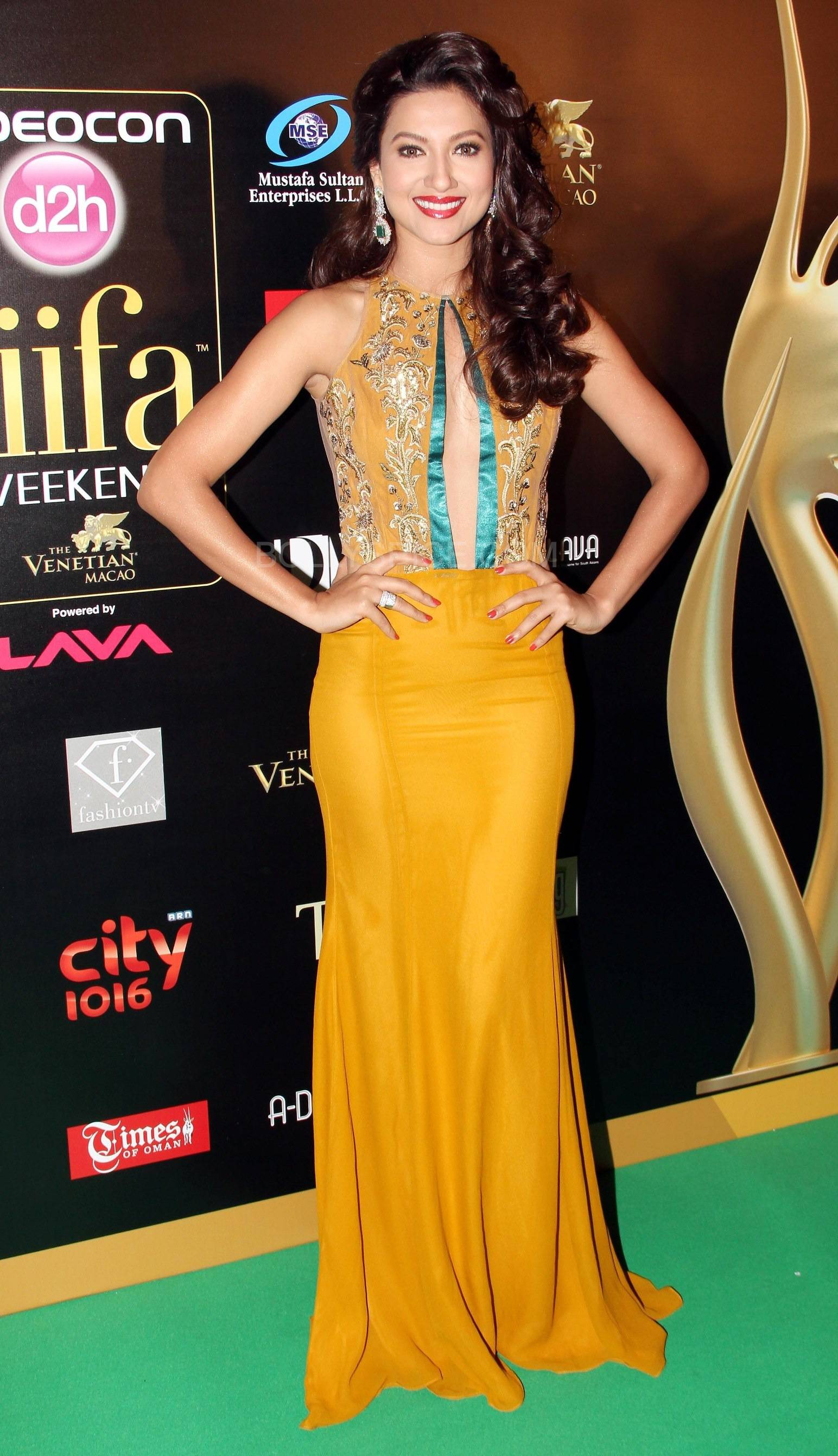 Gauhar Khan at IIFA Rocks Green carpet
