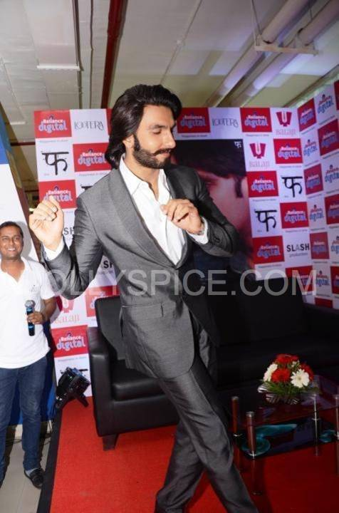 Ranveer Singh does an Impromptu Jig at the Reliance Digital Store In Pictures: Ranveer Singh Visits Reliance Digital, Gurgaon to promote Lootera!