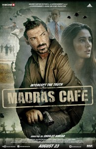 madrascafeposter 195x300 Madras Cafe gets U/A with no cuts