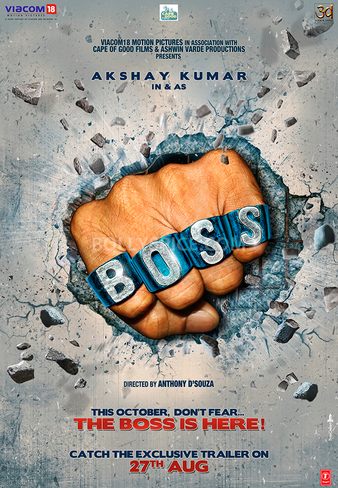 "13aug AkshayBossPoster01 Akshay Kumar is the asli ""BOSS"""