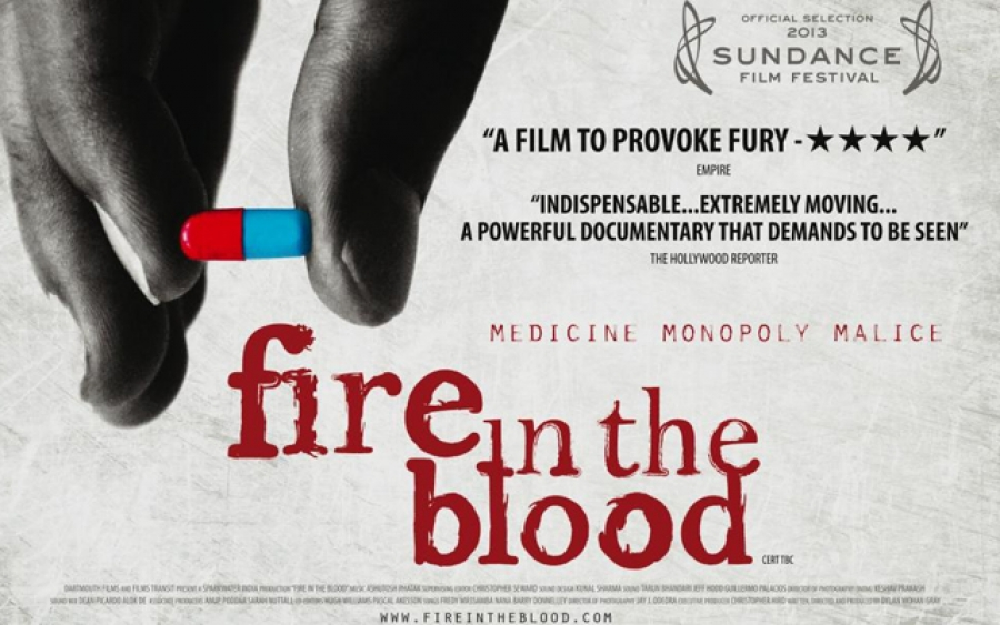13aug FireInTheBlood Poster Sundance nominated Indian documentary 'Fire In The Blood' now in its 3rd successful week at theatres