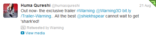 13aug KingKhan Warning03 King Khan gives a thumbs up to Anubhav Sinha's 'Warning'