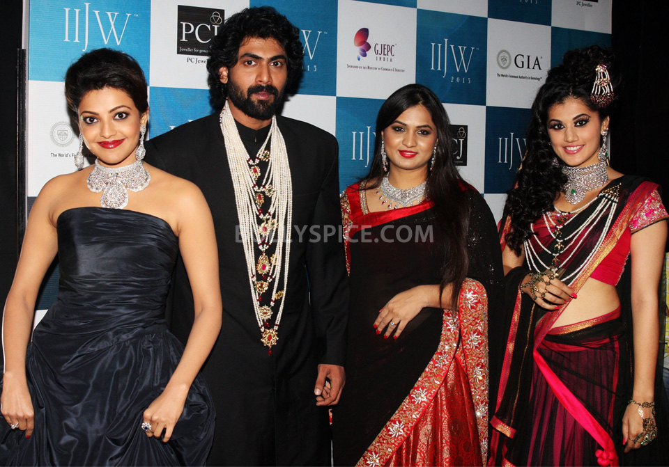 13aug MoniAgarwalIIGW01 Moni Agarwal takes Kajal, Rana and Taapsee on the voyage of Satlada at IIJW 2013