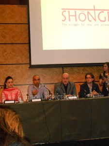 13aug Shongram LondonPC01 225x300 Anupam Kher attends London press conference for Shongram