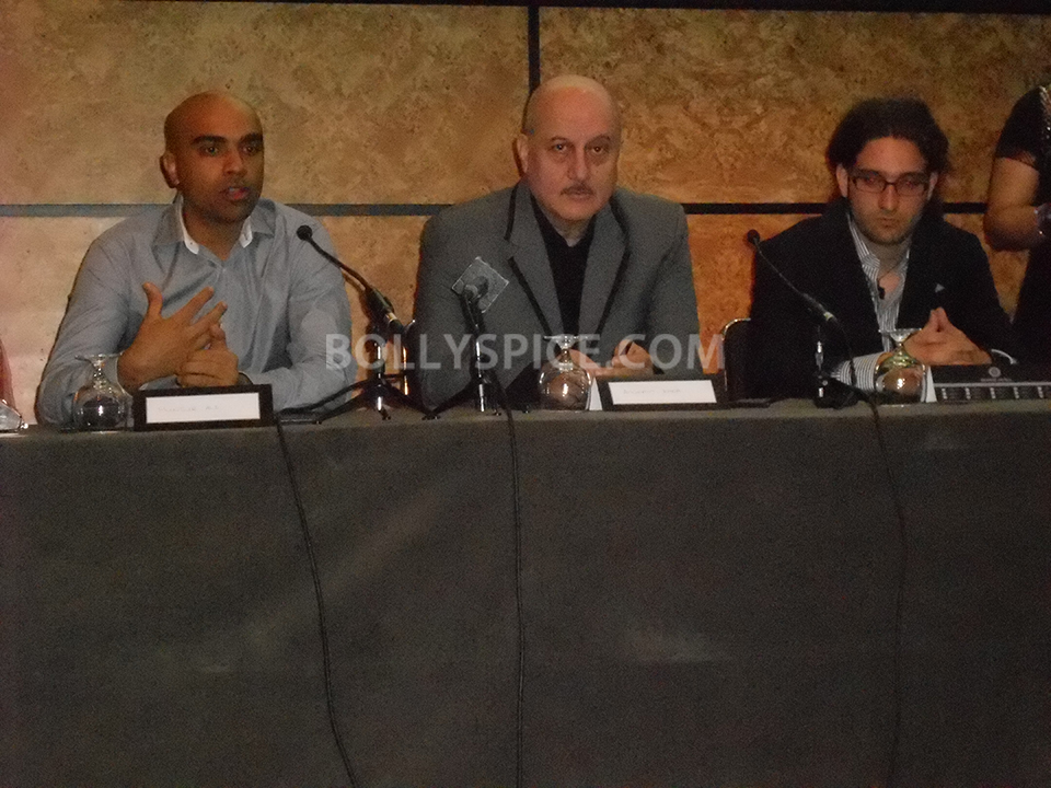 13aug Shongram LondonPC02 Anupam Kher attends London press conference for Shongram