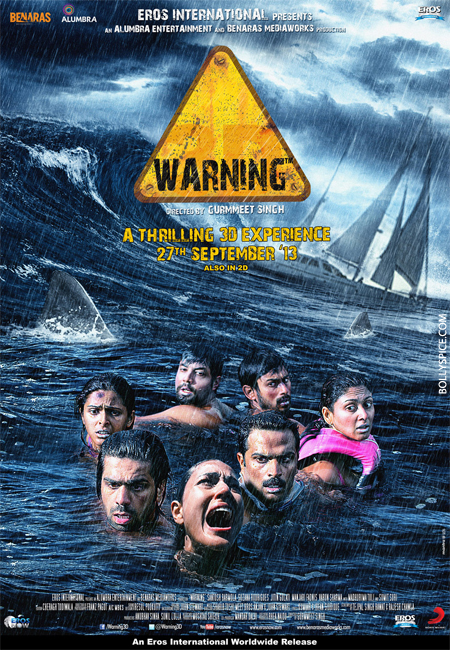 13aug warningposter The First Hindi 3D Underwater film   Warning