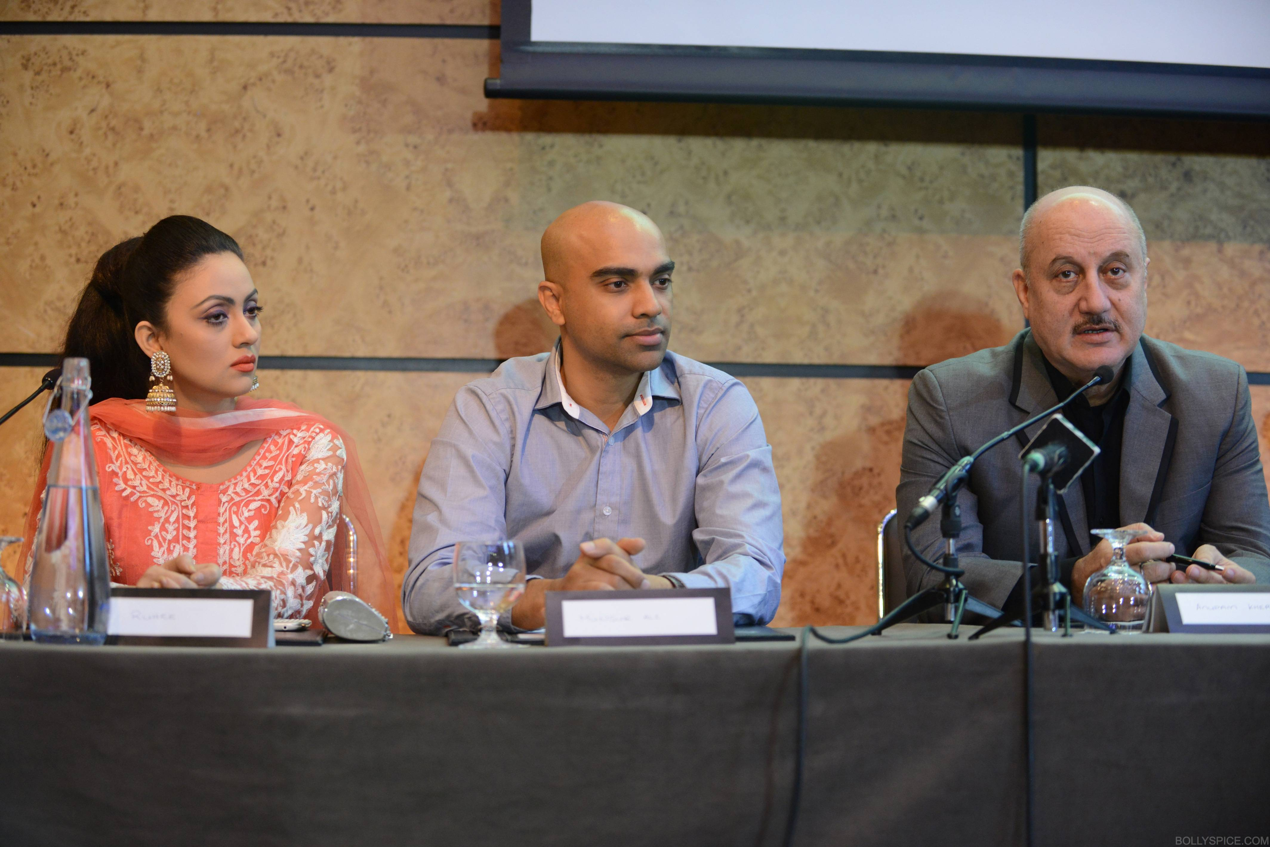 ShongramPC03 SAI Anupam Kher attends London press conference for Shongram