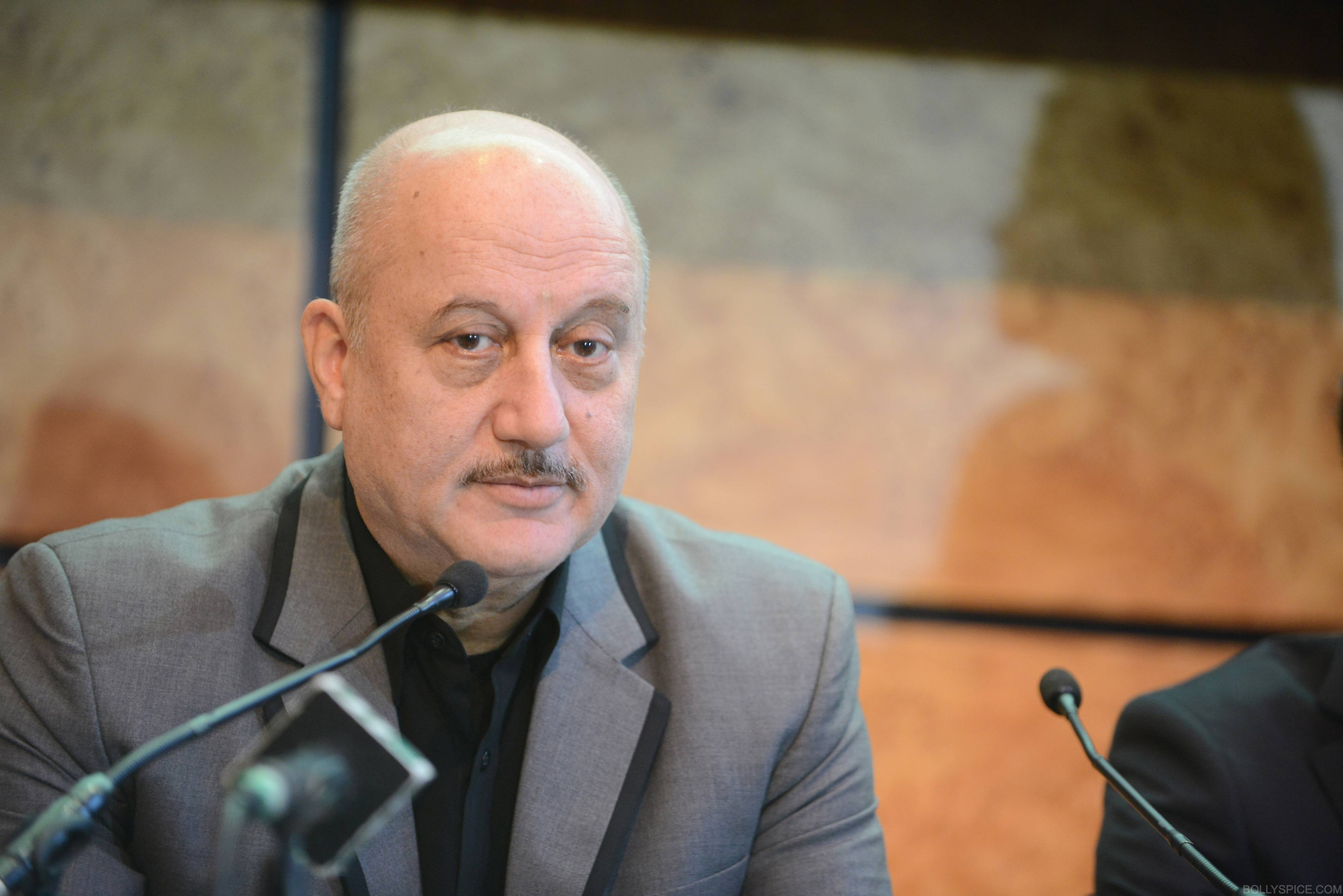 ShongramPC07 SAI Anupam Kher attends London press conference for Shongram