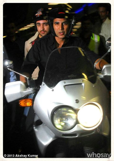akshayimranbike In Pictures: Akshay and Imran Ride Motorcycle to a OUATIMD Screening