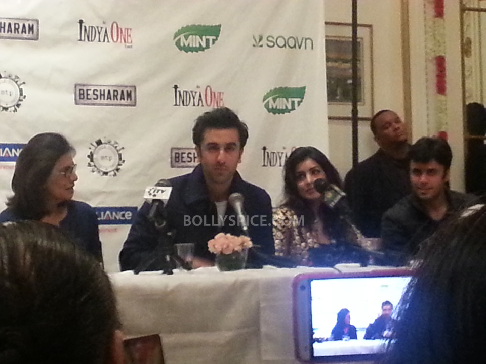 13sep Besharam NY06 Bollywood without The Kapoors is like Superman without his Red Underwear: Ranbir at NY Besharam Press Conference!