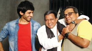 13sep Kartik Kaanchi Mithun Rishi 300x167 Kartik Aryan shares his experience of working with Rishi Kapoor and Mithun Chakraborty