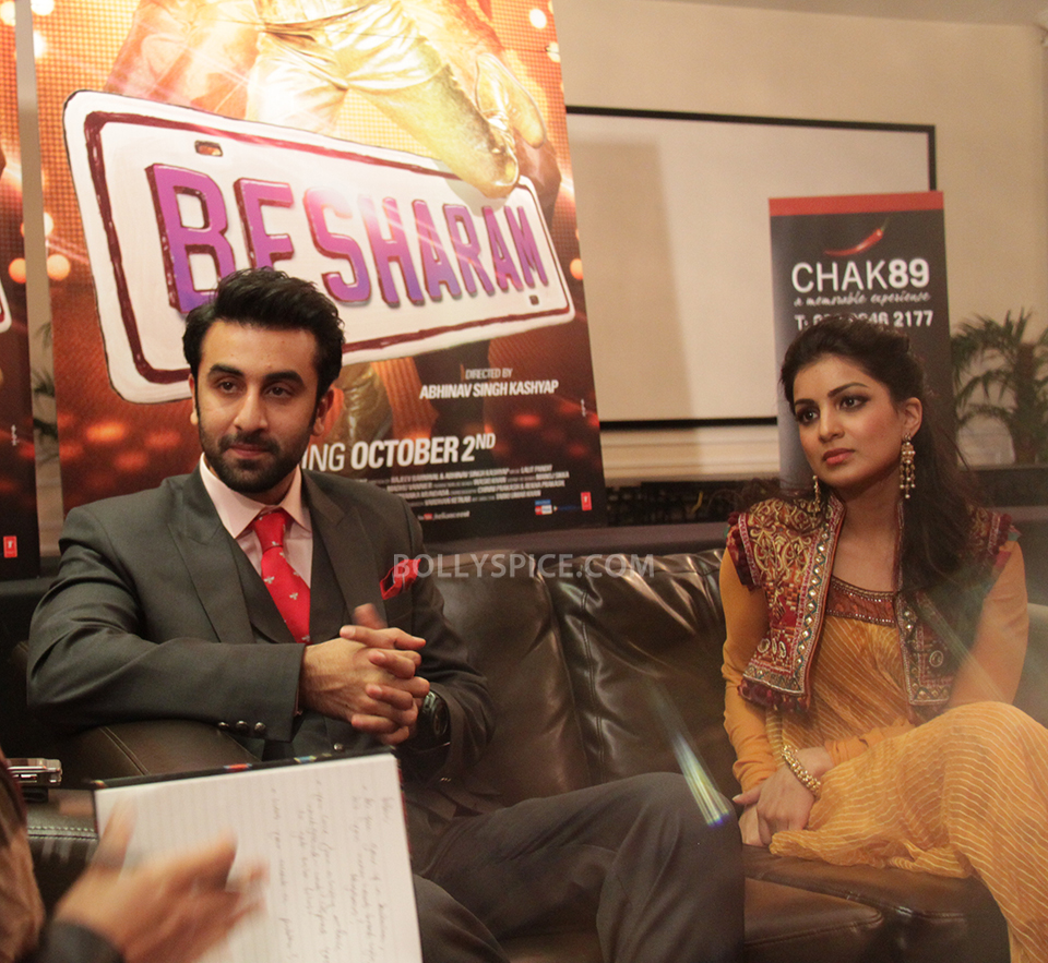 13sep Ranbir Pallavi Besharam06 BollySpice talks to Ranbir Kapoor and Pallavi Sharda in an exclusive in London!