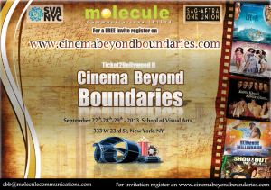 13sep Ticket2Bollywood 300x211 Ticket 2 Bollywood: Cinema Beyond Boundaries