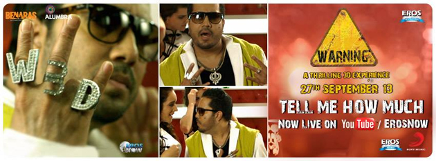 13sep tellmehowmuch Tell Me How Much   New Song by Mika Singh from Warning 3D