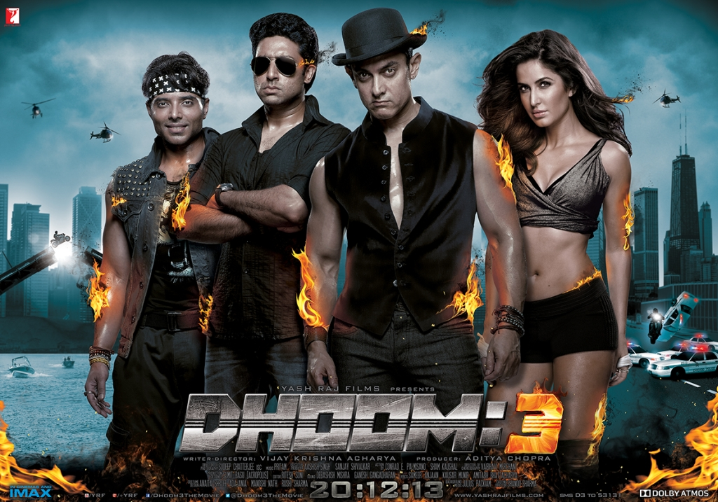 Dhoom 3 Motion Poster Dhoom:3 to release in cool new Dolby Atmos sound technology