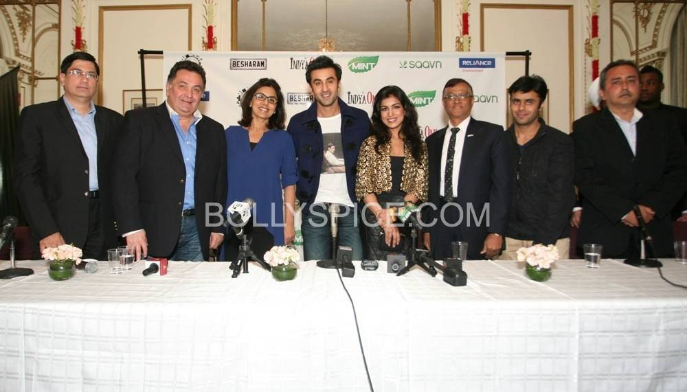 besharam ny press conference5 Bollywood without The Kapoors is like Superman without his Red Underwear: Ranbir at NY Besharam Press Conference!