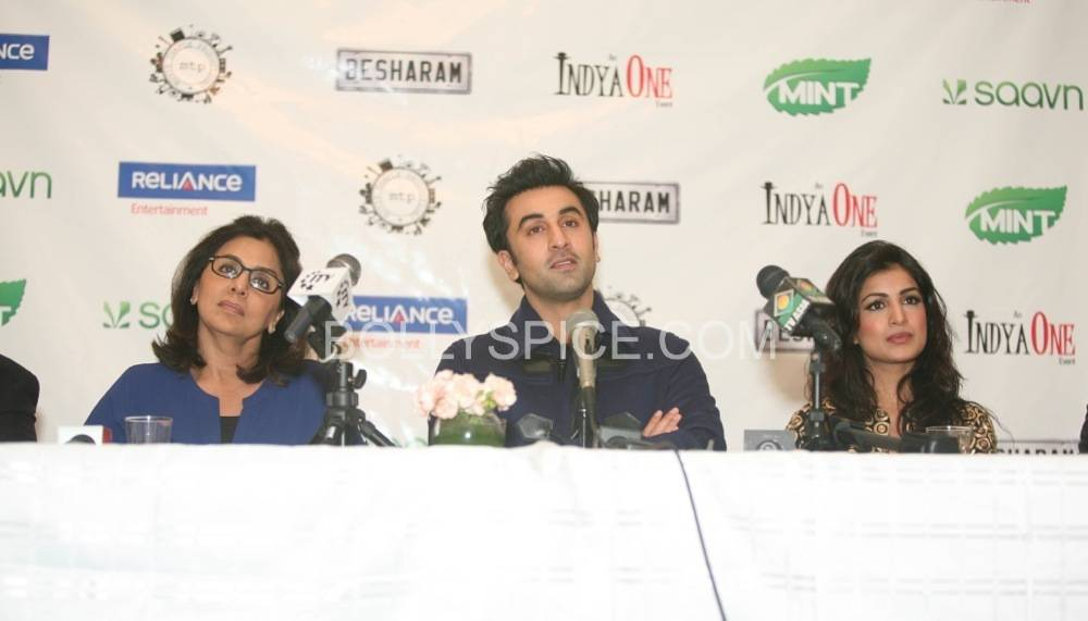 besharam ny press conference6 Bollywood without The Kapoors is like Superman without his Red Underwear: Ranbir at NY Besharam Press Conference!