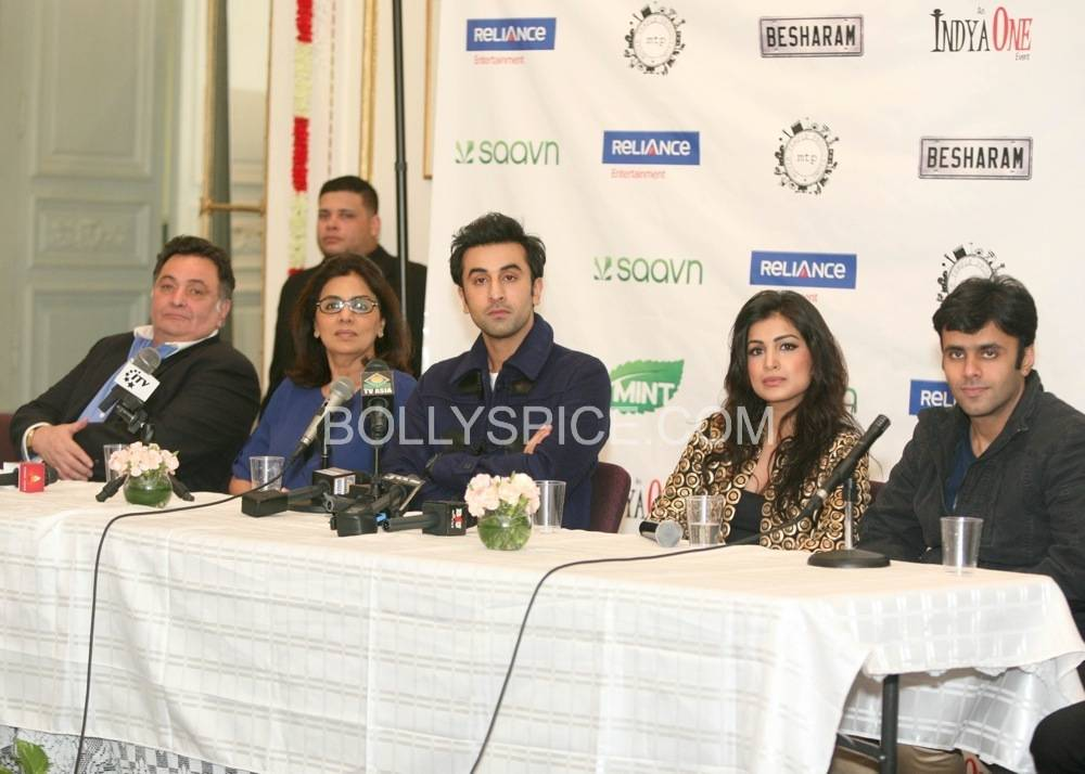 besharam ny press conference7 Bollywood without The Kapoors is like Superman without his Red Underwear: Ranbir at NY Besharam Press Conference!