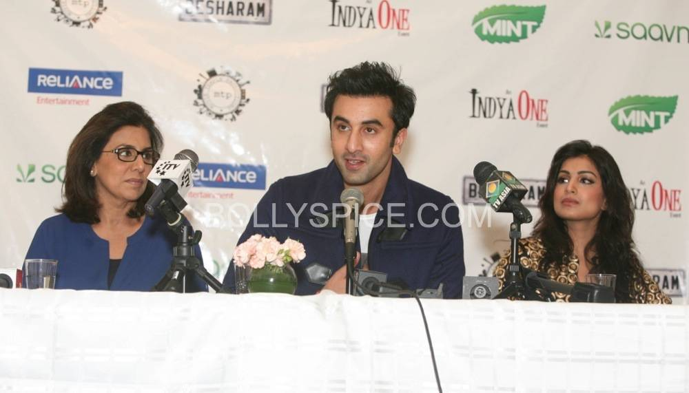 besharam ny press conference8 Bollywood without The Kapoors is like Superman without his Red Underwear: Ranbir at NY Besharam Press Conference!