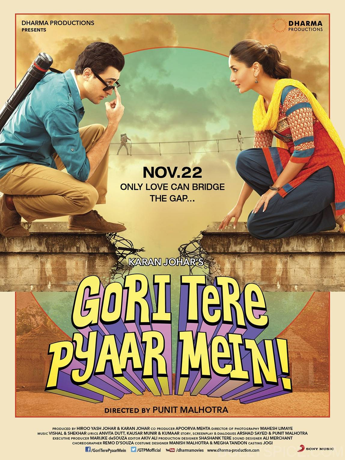 gtpmposter1 First Look: Kareena and Imran in Gori Tere Pyaar Mein