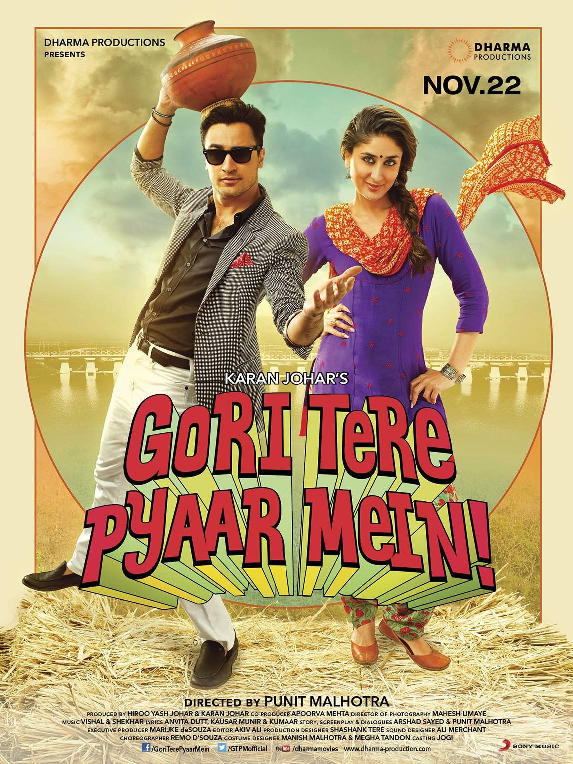 gtpmposter2 First Look: Kareena and Imran in Gori Tere Pyaar Mein