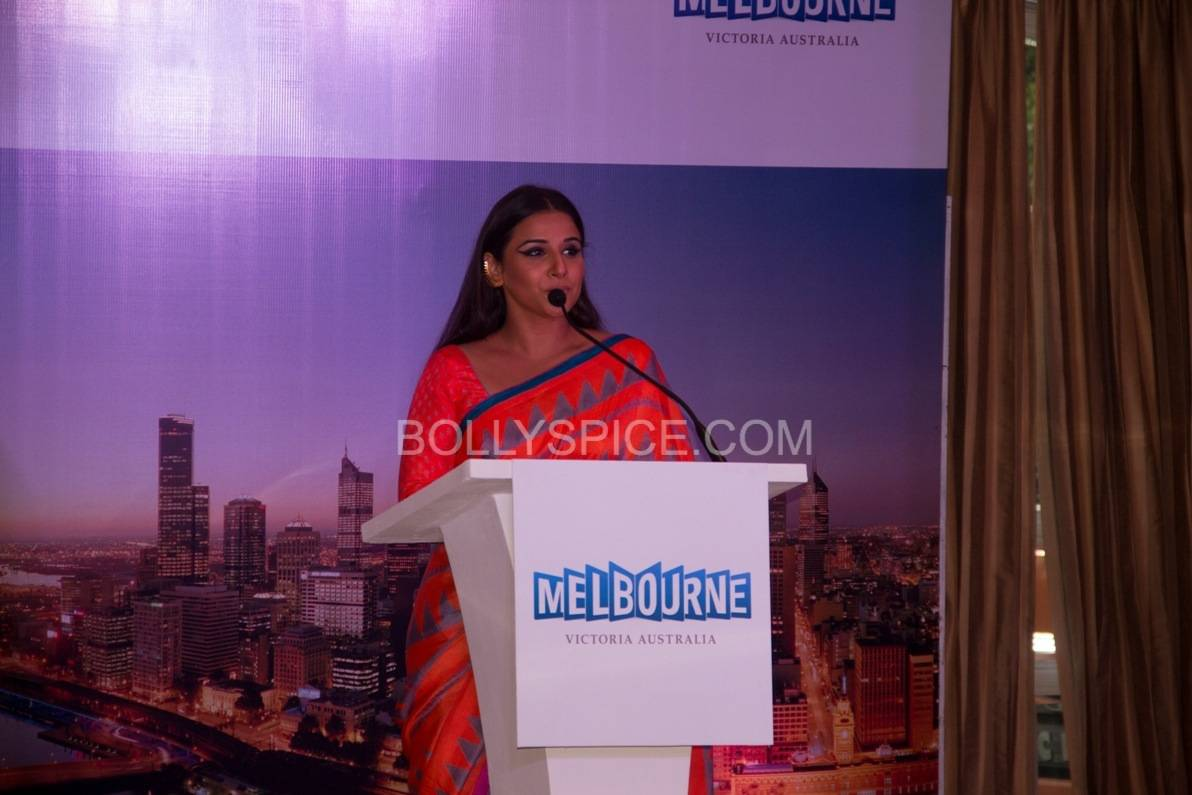 vidyabalanatiffm13 Brand Ambassador Vidya Balan at the Indian Film Festival of Melburne Conference (IFFM)