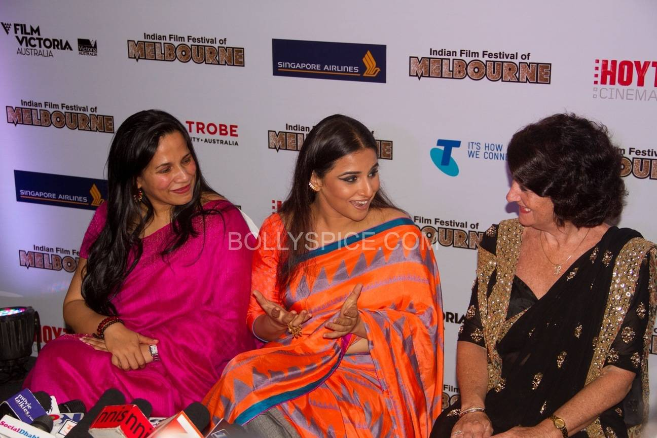 vidyabalanatiffm5 Brand Ambassador Vidya Balan at the Indian Film Festival of Melburne Conference (IFFM)
