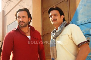 13oct BullettRaja still06 300x200 Jimmy Shergill bonds with Saif Ali Khan whilst shooting for Bullett Raja