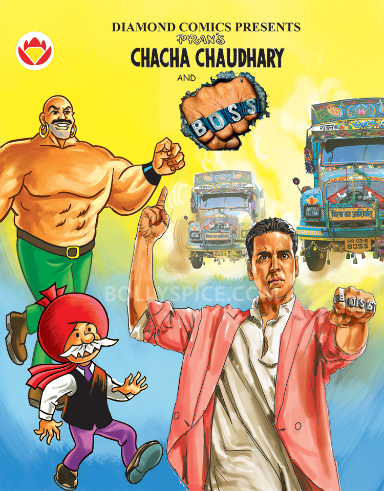 13oct ChachaChaudhary BOSS Akshay01 BOSS ties up with classic comic book Chacha Chaudhary